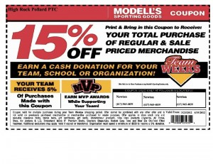 photograph regarding Modell Printable Coupons named Help you save 15% Off at Modells Putting on Products and solutions, Guidance Substantial Rock