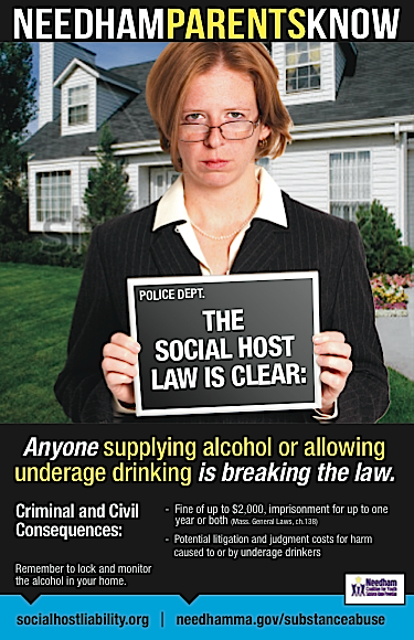Needham Parents Know…The Social Host Law is Clear